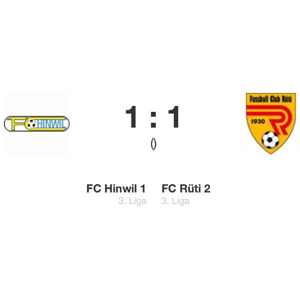 Spielbericht FC Hinwil 1 – FC Rüti 2