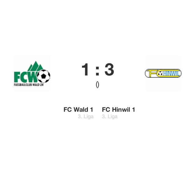 Spielbericht FC Wald 1 – FC Hinwil 1