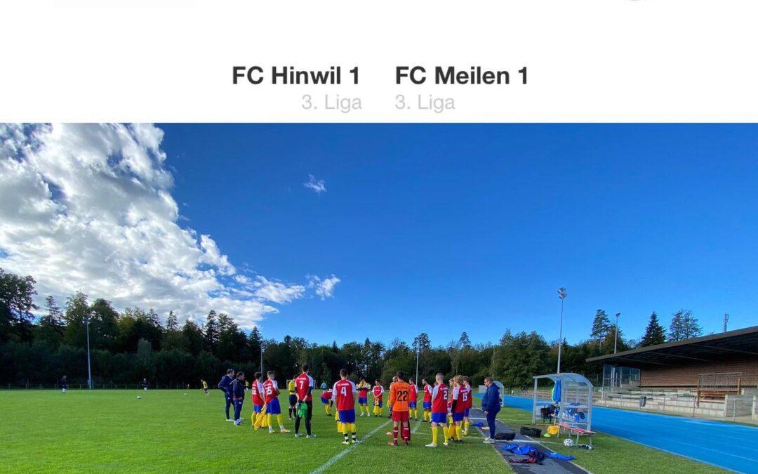 Spielbericht FC Hinwil 1 – FC Meilen 1